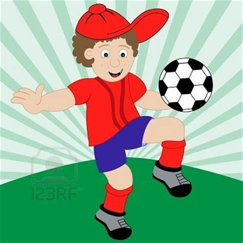 dibujos de niños jugando futball i won a prize