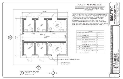 public bathroom floor plan standard restrooms romtec inc