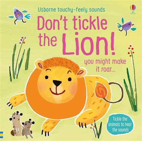 dont tickle  lion  usborne childrens books