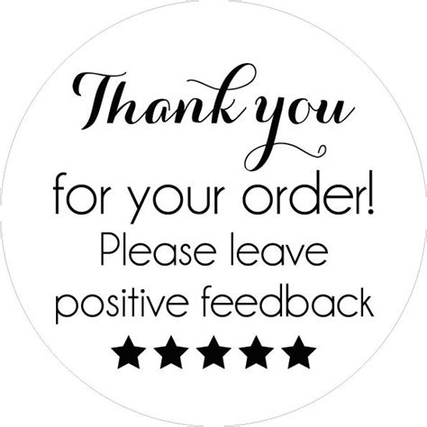 thank you for your order card template free 240 thank you for your order sticker labels ebay