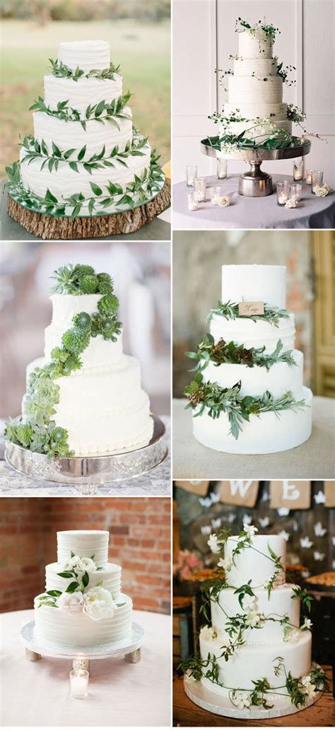 Wedding Cake Greenery by Pantone Color Of The Year 2017 Top 50 Greenery Wedding