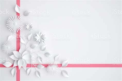 White Paper Flowers Background Wedding Decoration Greeting