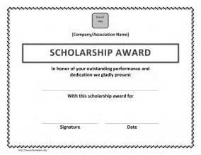 Scholarship Award Template by Scholarship Award Certificate Template Free Microsoft