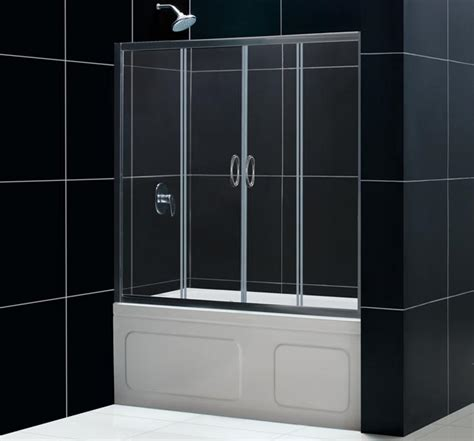 sliding bathtub shower doors dreamline showers visions sliding tub door