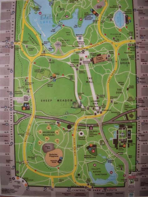 central map central park map map of central park