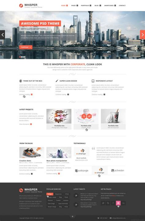 company profile web design inspiration 25 best corporate website design exles for your inspiration