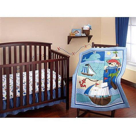 pirate baby bedding baby boy blue red lil pirate ship crib bedding nursery set