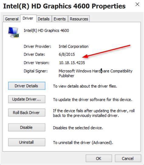 Graphic Card Intel New Intel Hd Graphics 4600 Driver Update In Wu Windows