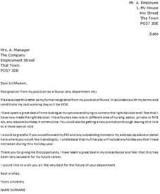 resignation letter format top sample rn resignation