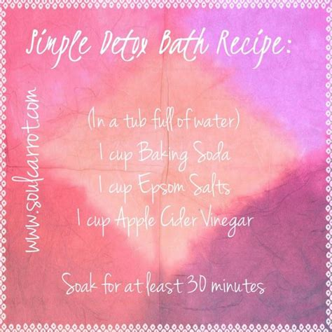 Aches During Detox by Simple Detox Bath Recipe Aches Pains Bloat Utis