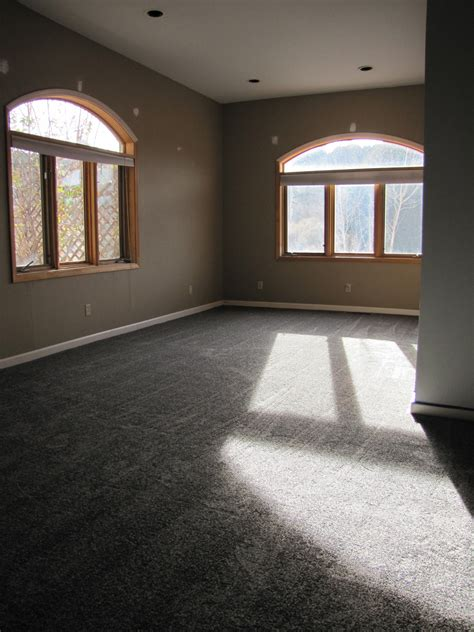our gray carpet and the sw dovetail accent wall with