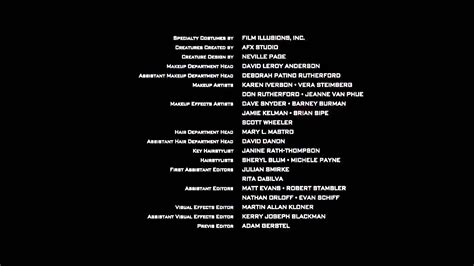 Credit Roll Template Trek Into Darkness End Credits