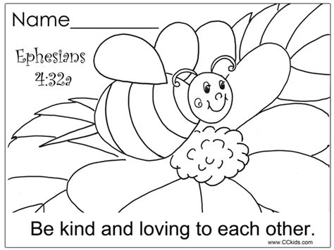 biblical coloring pages preschool be kind and loving to each other christian education
