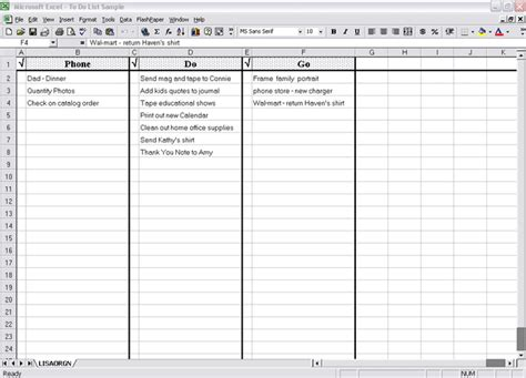 excel task list template to do list xls free to do list