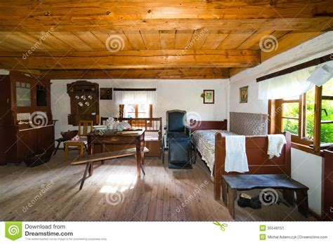 home inside design warszawa inside of old rural home in poland xixth century stock