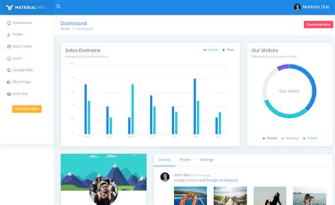 free bootstrap 4 templates stunning responsive material design bootstrap 4 responsive admin template download from