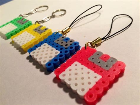 Floppy Disk Perler Keychain And Charm Set Of 2