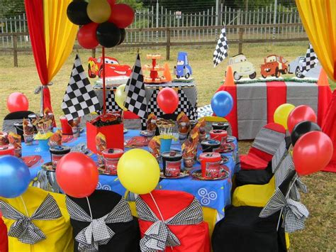 themed kiddies party decor disney s cars themed kiddies party by co ords kidz party
