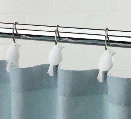 bird shower curtain rings bird bath shower hooks bathroom pinterest