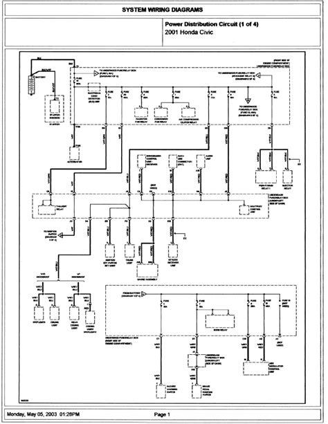 1996 honda civic power window wiring diagram wiring