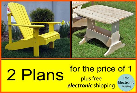 outdoor adirondack chair side table plans patterns
