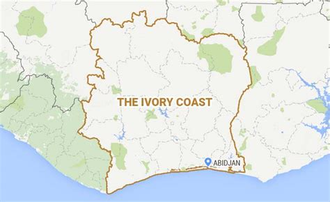 ivory coast on the map 11 000 ivorian refugees in still afraid to go home