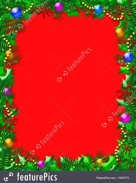 Templates: Christmas Holly Frame - Stock Illustration ... Free Clip Art Christmas Words