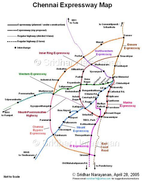 printable chennai road map chennai city roads traffic management skyscrapercity