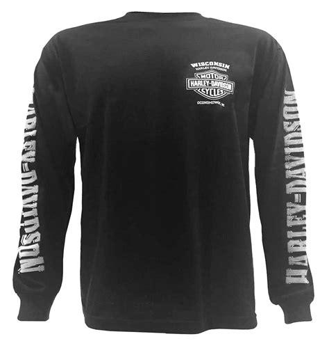 T Shirt Longsleeve Harley Davidson harley davidson s skull lightning crest graphic
