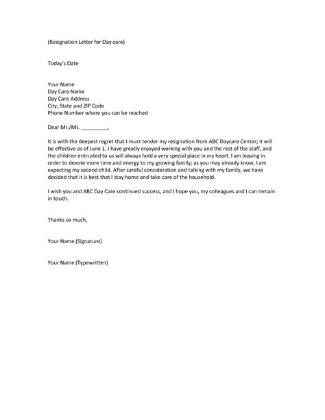 Sle Letter Of Resignations by Child Care Center Director Resume Sales Director Lewesmr