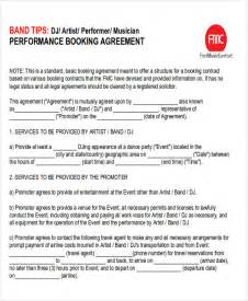 Letter Of Agreement For Performers Performance Agreement Contract Sle 9 Exles In Word Pdf
