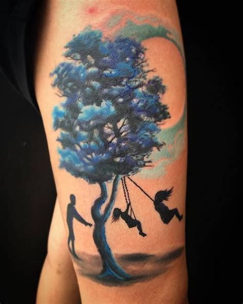 watercolor tattoos boise tree swing treeswing tattoos ink
