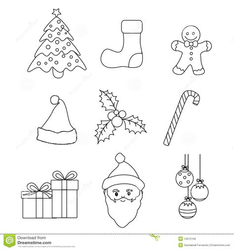 coloring school icons royalty free stock photos image christmas icons vector stock vector image of collection
