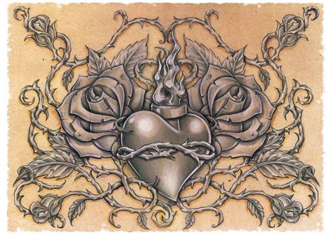 sacred heart by dlxone on deviantart