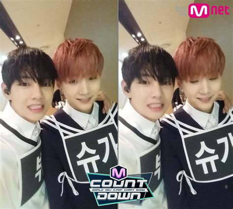 [Picture] BTS at Mnet Mcoutdown Twitter [150430] V Bangtan Selca