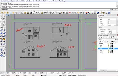 layout rhino modeling a simple house part 1 rhinoceros 3d help