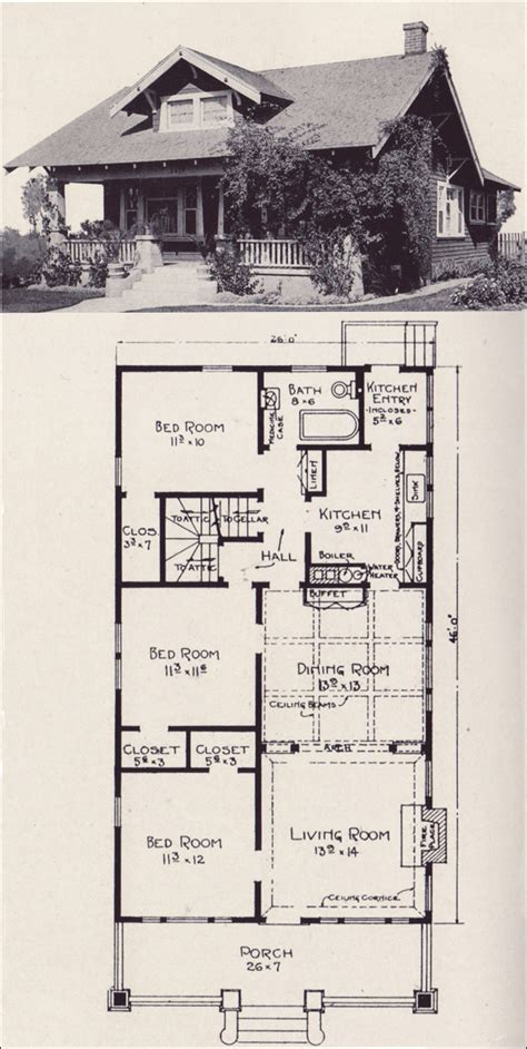 Bungalow House Plans California Bungalow Plans 5000 House Plans