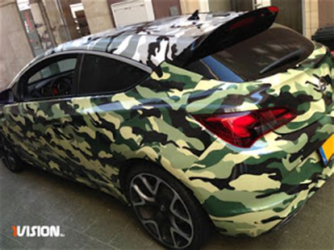 Camouflage Folie Gelb by 1vision Opel Astra Gtc Camouflage Folierung