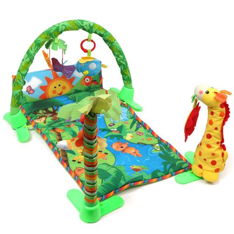 Pumpee Playmate Playmat With Catterpillar Mat With Arch rainforest musical baby infant activity floor crawl