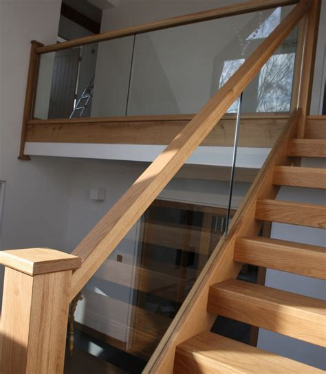 Wood And Glass Banister by Glass And Wood Stair Railing Pinteres