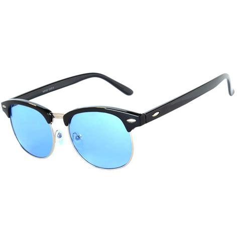 Frame Half by Owl 174 Eyewear Half Frame Sunglasses Black Silver Metal