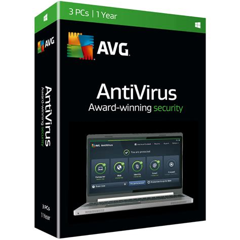 Anti Virus Avg avg antivirus 2016 boxed 3 users 1 year av16n12en003 b b h