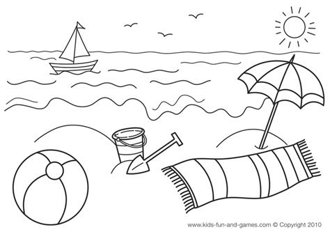 summer coloring printables summer coloring page