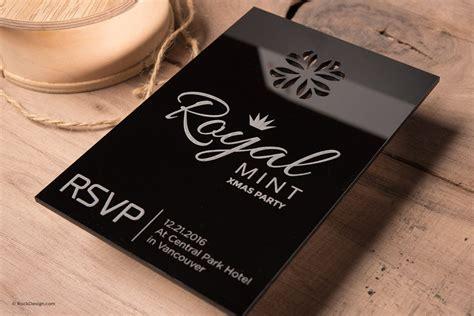 black acrylic invitation cards  invitation templates
