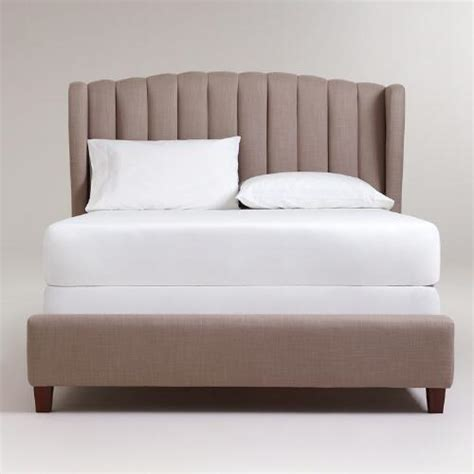 wingback queen bed marlow wingback queen bed world market