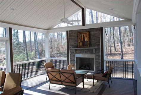 screen porch fireplace rock fireplace on a screened in porch inspiring outdoor spaces