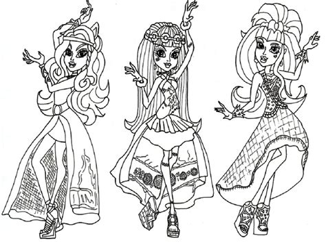 monster high movie coloring pages coloring pages for girls monster high bestofcoloring com