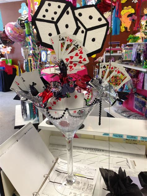 Vegas Themed Centerpieces Vegas Themed Centerpiece Madparties Pinterest