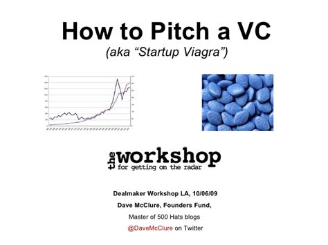 how to pitch a vc dave mcclure