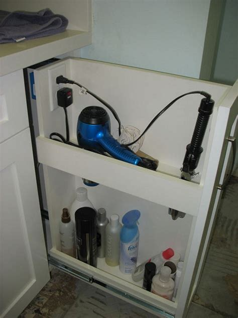 Hair Dryer Storage Diy diy space saver your hair dryer in a drawyer diy